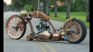 The Best of Rat Rod  and  Steampunk  Motorcycles!