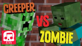 Minecraft Rap Battle - Creeper vs. Zombie ANIMATED [JT Music and Brysi]