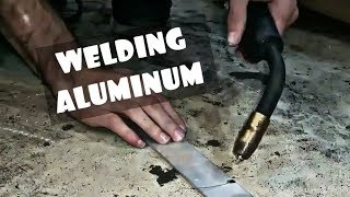 HOW TO: MIG WELDING ALUMINUM WITHOUT A SPOOL GUN!!!