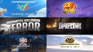 Overwatch: All Event Trailers | Year One HD
