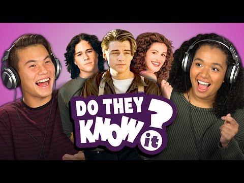 DO TEENS KNOW 90 s ROMANCE MOVIES REACT Do They Know It