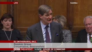 Dominic Grieve MP (Con) - European Union (Withdrawal) Bill, at Committee Stage (Day 1) - 14.11.2017