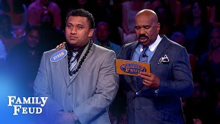 27 points on his FINAL ANSWER for $20,000? | Family Feud