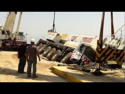 Crane accident Liebherr Ltm 1200. Avi cranes. Кра�