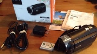Sony HDR-CX240 60p HD Handycam Review & Video Test
