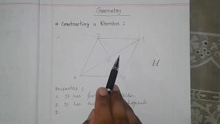 পঞ্চম শ্রেণি গণিত (PEC) । Geometry । properties of Rhombus । Tulip Education