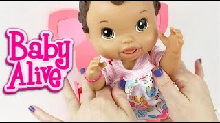 Baby Alive Doll Feeding Strawberry Yogurt and Milk
