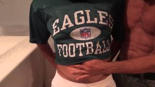 More Navel Play with the Football Dude