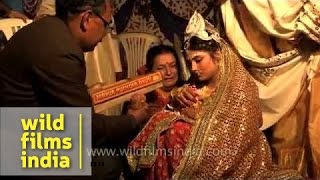 Outburst of emotions at Bengali marriage ritual