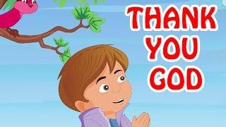 Kids Video - Thank You God   English Prayer For Kids