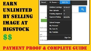 Earn Huge Money By Uploading Images on Bigstock | Payment Proof