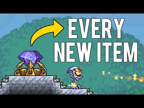Every New item in Terraria Update 1.3.4 (PC Dungeon Defenders 2 Crossover Update)