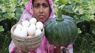 Green pumpkin and Egg's meat curry Yummy PUMPKIN Recipe FARM FRESH PUMPKIN RECIPE  Village Food