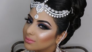 Dramatic Blue Smokey Eyes | Asian Bridal Makeup | Photoshoot