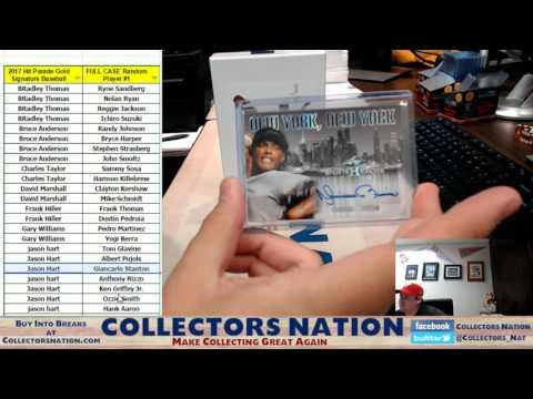 2017 Hit Parade Gold Signature Baseball Full Case Random Player #1