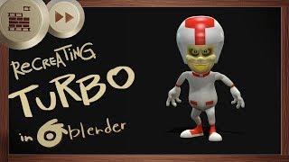 Recreating Turbo(Wreck-it Ralph) in Blender