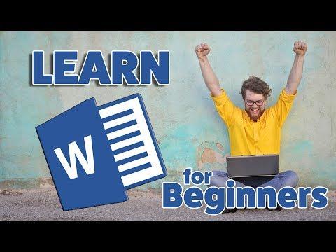 Microsoft Word Tutorial Beginners Level 1