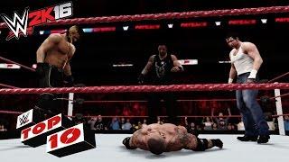 Top 10 OMG! Moments: WWE 2K16 Top 10