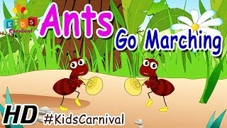 Ants Go Marching  - Nursery Rhymes | Play School Songs | Easy To Learn