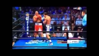 Errol Spence Knock Out Leonard Bundu 6th Round KO