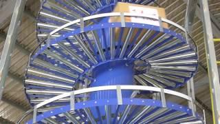 NEXUS Gravity roller spiral conveyor - Carton handling - Factory acceptance test