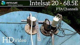Intelsat 20 - 68.5E - dish setup and auto scan - Hindi, English, Arabic, South Indian channels - FTA