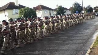 Homecoming parade for the troops in Braunton