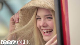 Elle Fanning Talks About Working with Angelina Jolie on