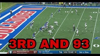 LA Tech Loses 87 Yards on a Single Play vs Mississippi State