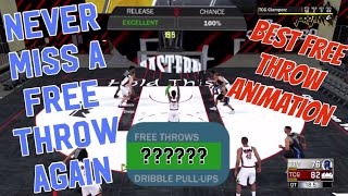 NEVER MISS A FREE THROW BY USING THIS ONE TRICK! Best Free Throw Animation Green Free Throw Ace Gold