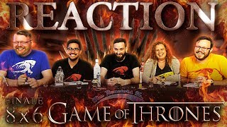 """Game of Thrones 8x6 FINALE REACTION!! """"The Iron Throne"""""""
