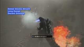 Godzilla The Game PS3 Atomic Breath Types