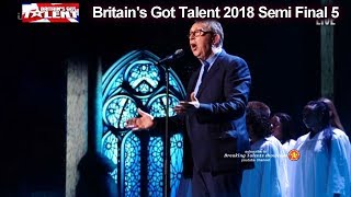 """Father Ray Kelly """"Go Rest High On That Mountain""""  Britain's Got Talent 2018 Semi Finals 5 BGT S12E12"""