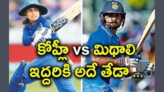 Virat Kohli And Mithali Raj A Comparison | Oneindia Telugu
