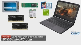 How to Build a Barebones Laptop (Clevo P641RE/P640RE) Gaming Whitebook Notebook