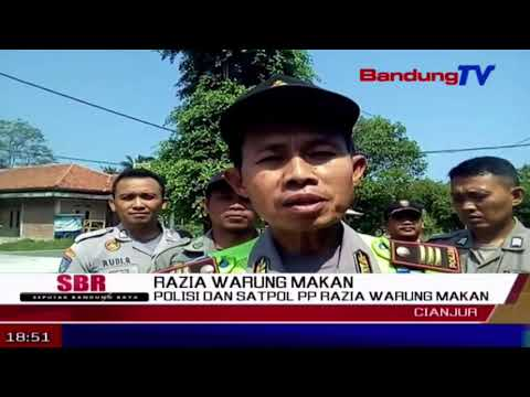 Polisi dan SATPOL PP Razia Warung Makan | SBR | BANDUNG TV