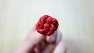 How to Tie a Miniature Rose Button Knot Tutorial