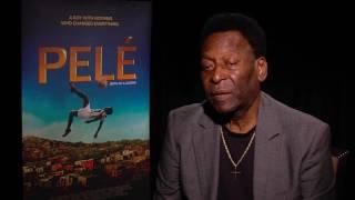 PELÉ interview - most recent interview with Pelé, talking about the movie Pelé, Birth Of A Legend