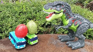 Tayo Steal Eggs Of Dinosaur Walking T Rex! Dino Eggs Hunter Tayo! Fun Dinosaur Toys for kids. 공룡 타요