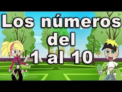 La canción de los números Canciones Infantiles del 1 al 10 preescolar
