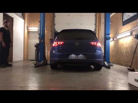 VW Golf 7 R Underground Exhaust Stage 3 Cold Start