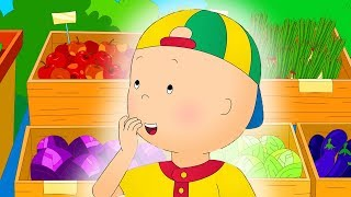 Caillou learns about Vegetables | Funny Animated cartoons Kids | WATCH ONLINE | Cartoon for Children