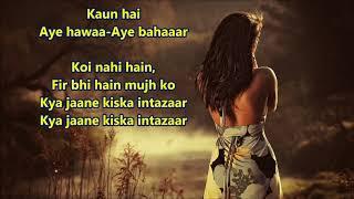Koi Nahi Hain Phir bhi hai mujhko - Patthar Ke Sanam - Full Karaoke Scrolling Lyrics