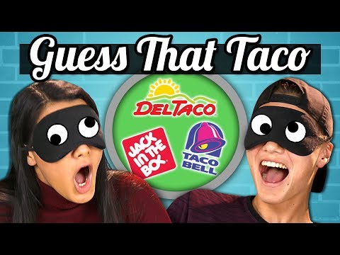 GUESS THAT TACO CHALLENGE TEENS vs. FOOD