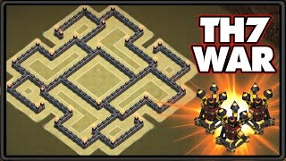 NEW UPDATE 2016 | Town Hall 7 War Base With 3 Air Defenses! | TH7 War Base CoC 2016!