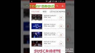 Descarga musica y videos facil desde tu dispositivo android / Tony Droid /