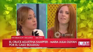 Caso Boudou: el tenso cruce entre María Julia Olivan y Agustina Kampfer
