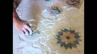 Marble Inlay Work at EllBee Hotel Ganga View