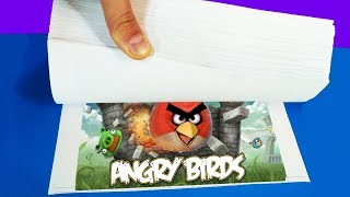 How to make a Flip Book Animation / Angry Birds Gameplay