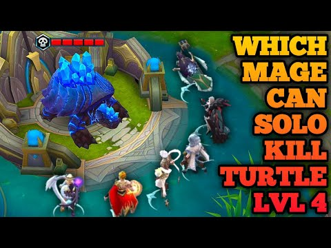 WHICH MAGE CAN SOLO KILL TURTLE AT LEVEL 4 PART 2 MOBILE LEGENDS